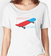 Skateboard infographic Women's Relaxed Fit T-Shirt