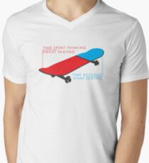 Skateboard infographic Men's V-Neck T-Shirt