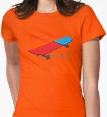Skateboard infographic Womens Fitted T-Shirt
