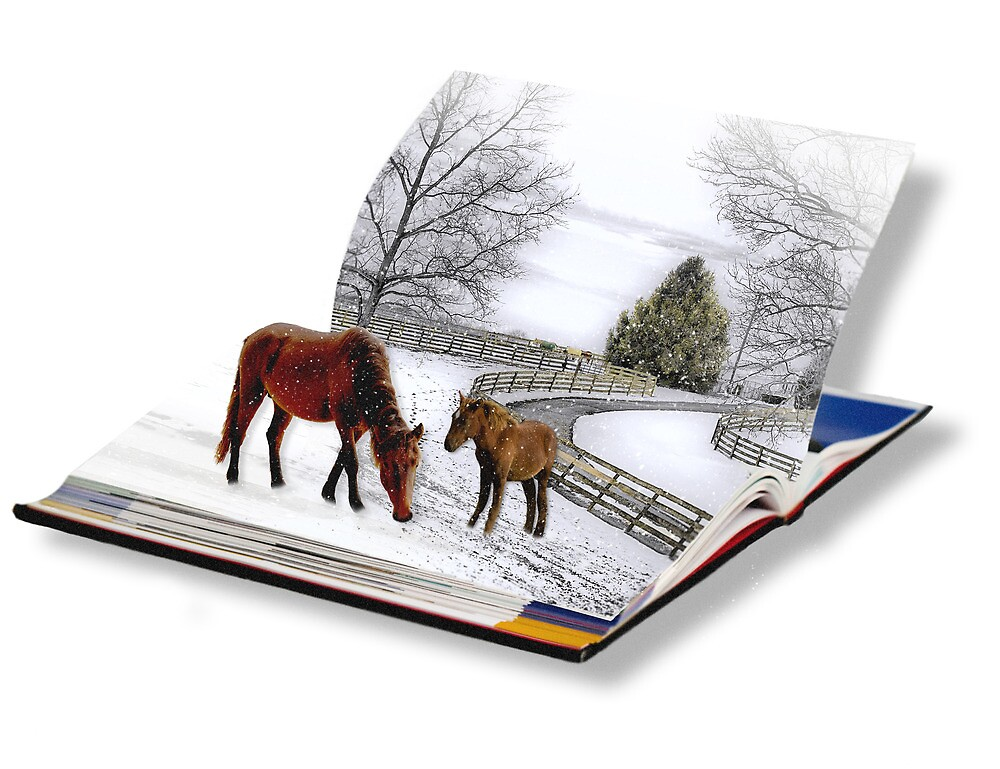 Horses in Snow Storm by Trudy Wilkerson