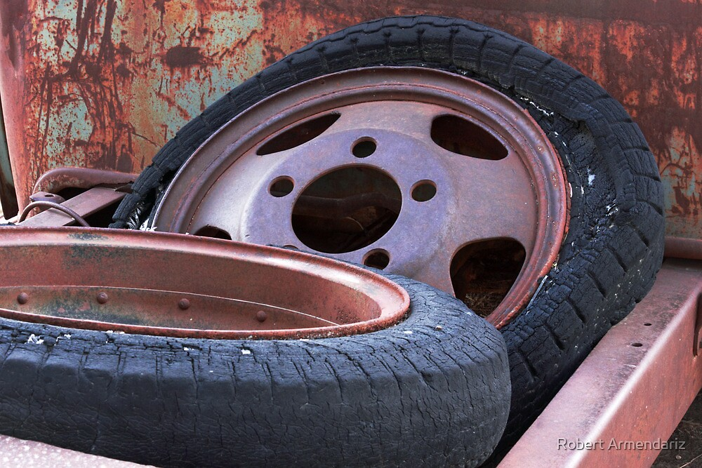 The Spare Tires are Flat by Robert Armendariz