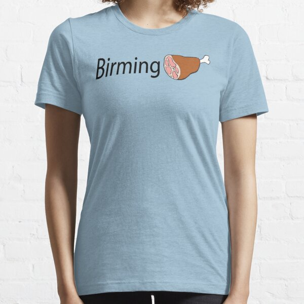 Birmingham Black text Essential T-Shirt