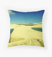 3 Lakes on Yellow Dunes - Jericoacoara, Brazil Throw Pillow
