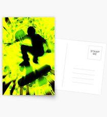 light burst skateboarding Postcards