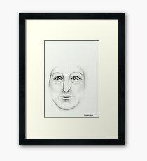 Face - Pencil Portrait Framed Print