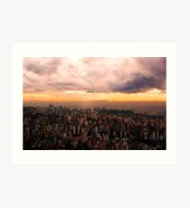 Belo Horizonte - The Cityscape from Above Art Print