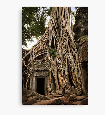 Cambodia - Angkor - Ta Prohm  #06 ... location for film Tomb Raider Canvas Print