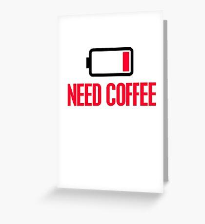 Need coffee Greeting Card