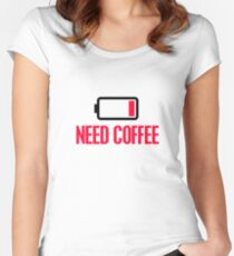 Need coffee Women's Fitted Scoop T-Shirt