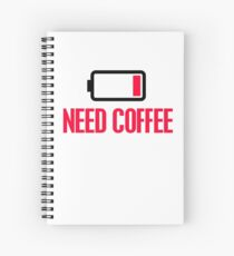 Need coffee Spiral Notebook
