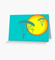 sun sky dive Greeting Card