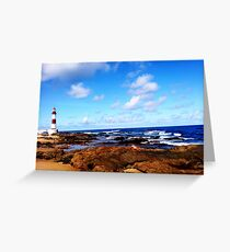 Itapua Beach and Watchtower, Salvador, Brazil Greeting Card