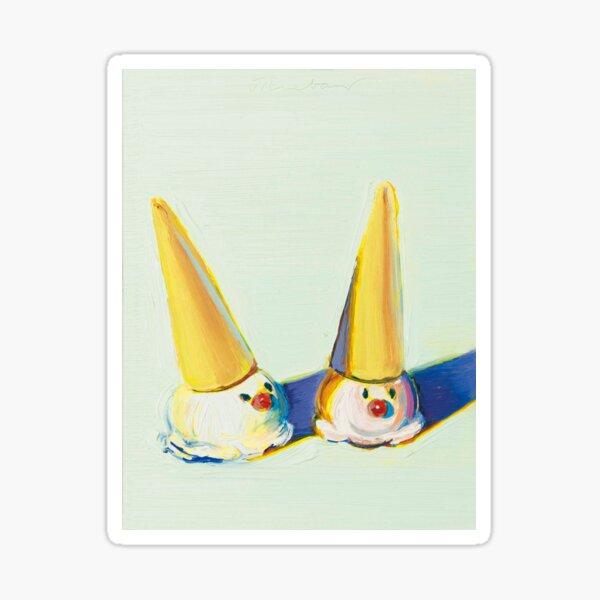 Zwei lustige Zapfen - Wayne Thiebaud Sticker