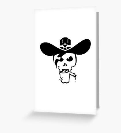 Skull of the Sheriff VRS2 Greeting Card