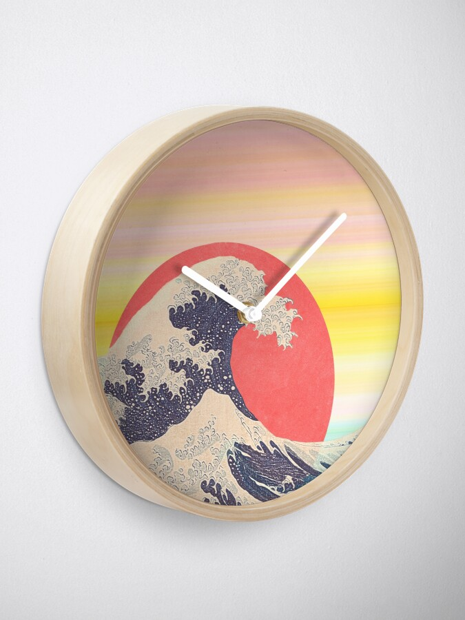 Alternate view of Hokusai revisited Clock