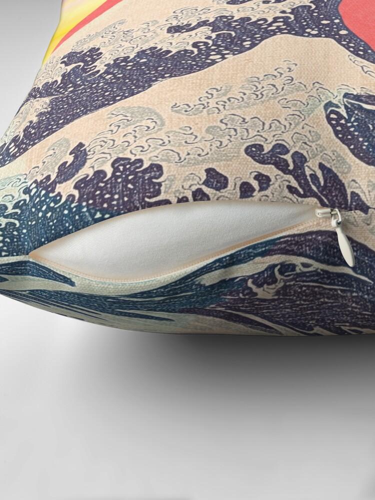 Alternate view of Hokusai revisited Throw Pillow