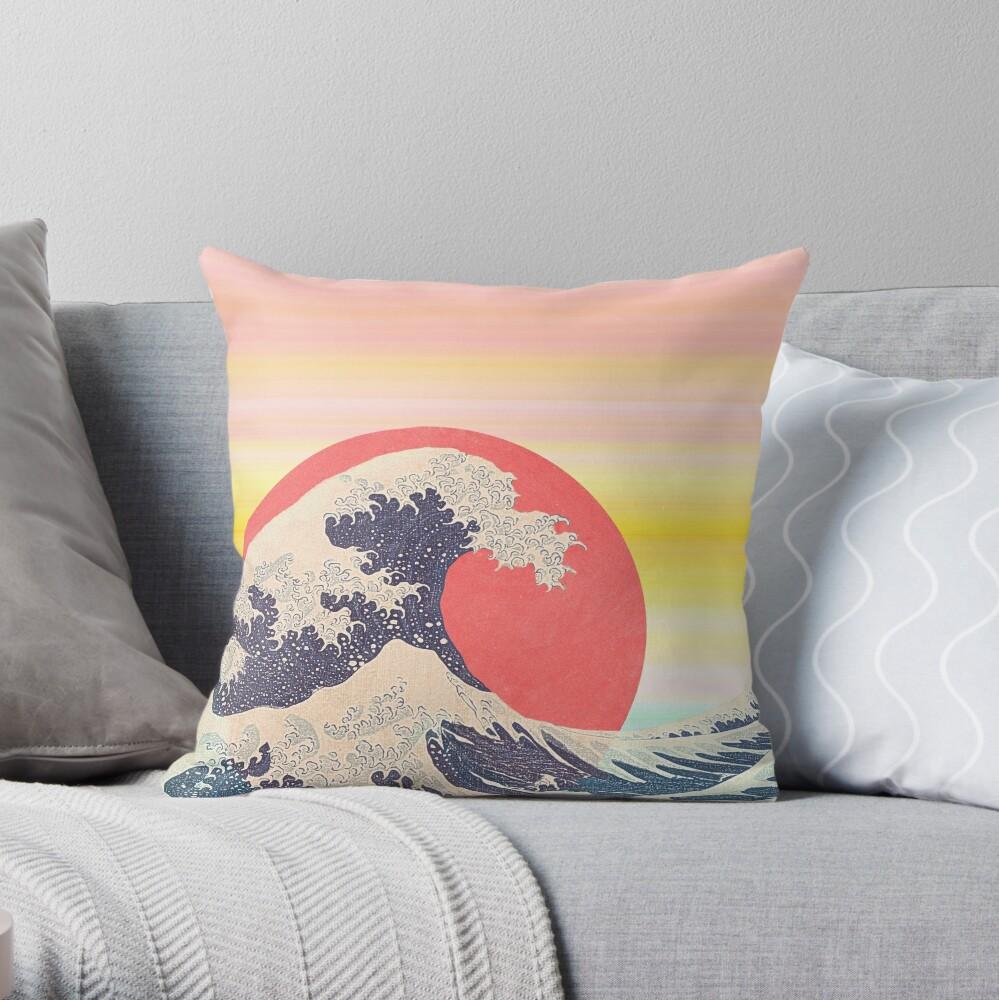 Hokusai revisited Throw Pillow