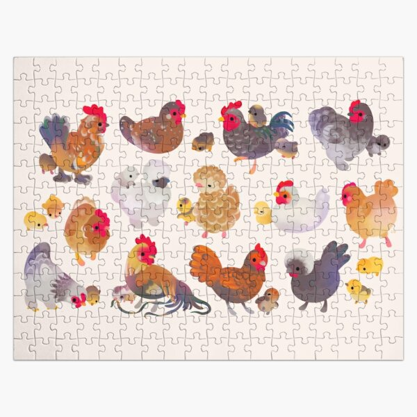 Chicken and Chick Jigsaw Puzzle