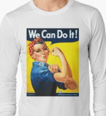 Vintage poster - Rosie the Riveter Long Sleeve T-Shirt