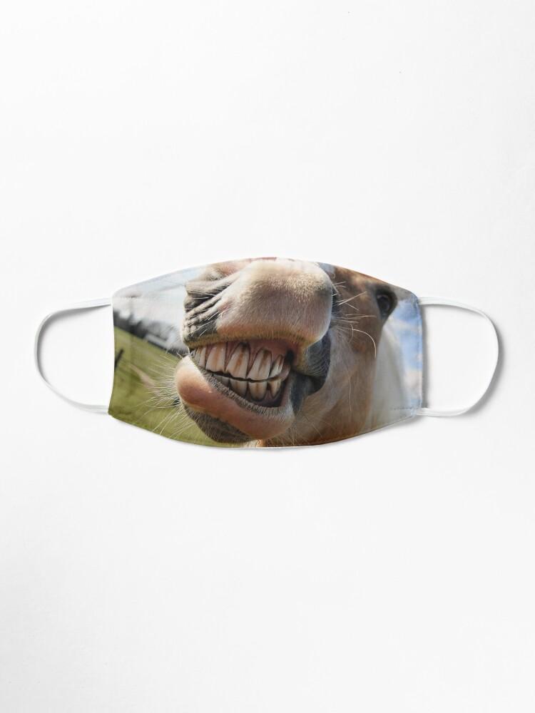 Alternate view of horse laughing Fun Mouth muzzle coronavirus face mask Mask