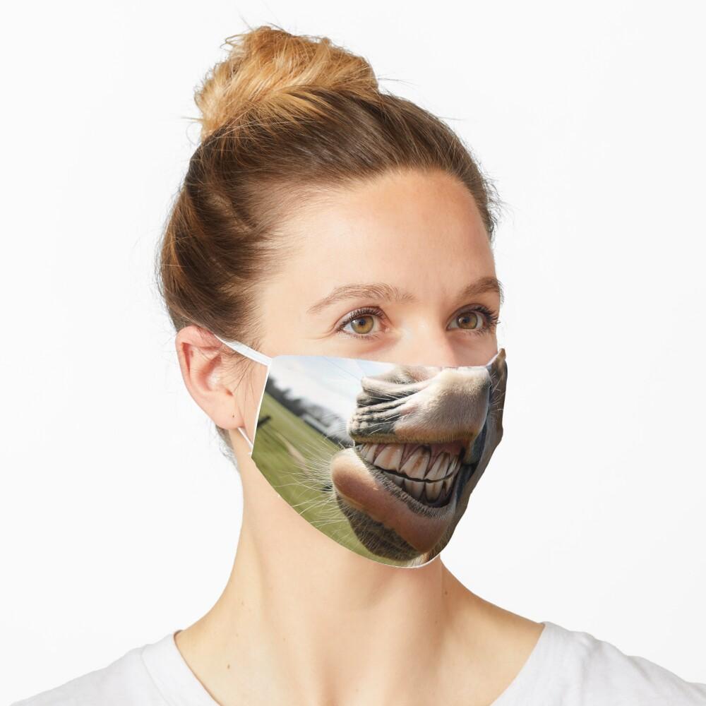 horse laughing Fun Mouth muzzle coronavirus face mask Mask