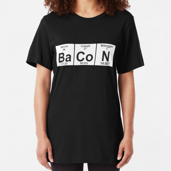 The Properties of Bacon Slim Fit T-Shirt