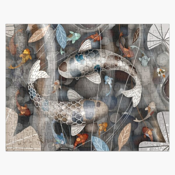 Koi Fish Pond Jigsaw Puzzle
