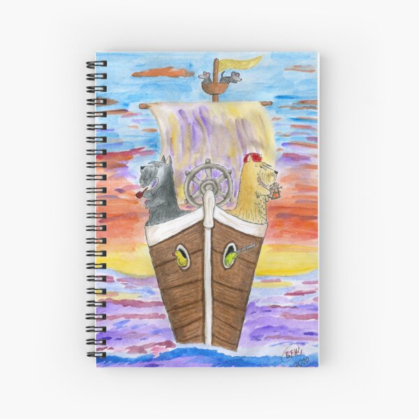 The Two Captains Spiral Notebook