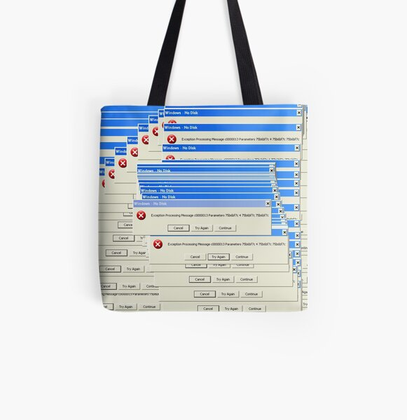Windows XP Exception All Over Print Tote Bag