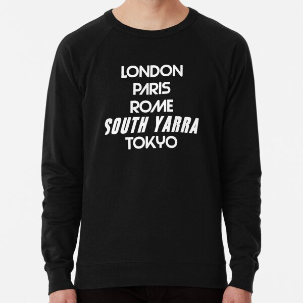 South Yarra Melbourne Suburb Australia Lightweight Sweatshirt