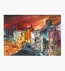 Spain - Spanish Village by Night Photographic Print