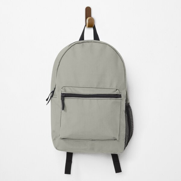 Dove Grey Solid Color Backpack