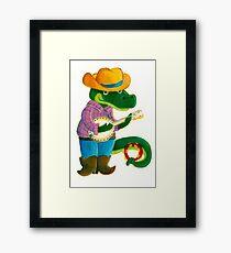 The Banjo Alligator Framed Print