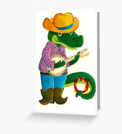 The Banjo Alligator Greeting Card
