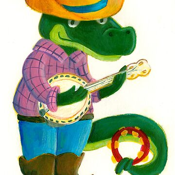 The Banjo Alligator by mimmam