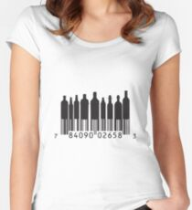 BAR-Code Women's Fitted Scoop T-Shirt