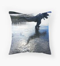 Rex on the Beach Throw Pillow