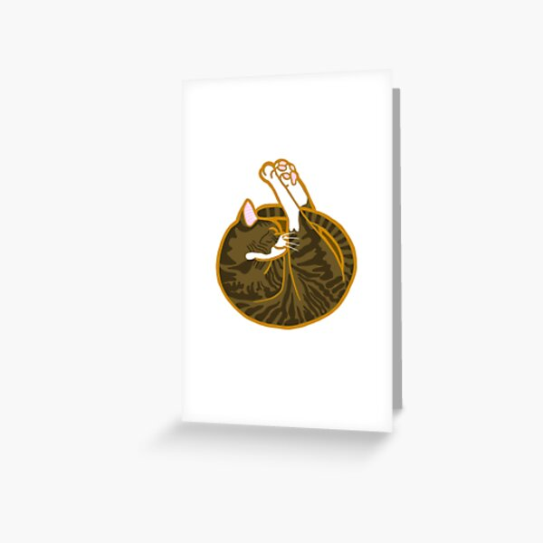 Shrimp Cat Tabby with White (Josie!) 2 Greeting Card