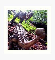 Prehistoric Showdown Art Print
