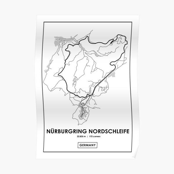 Nürburgring Nordschleife - Deutschland Track Map Poster
