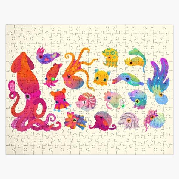 Cephalopod - pastel Jigsaw Puzzle