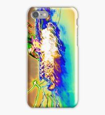 The Star Ship is being Attacked by rainbows  experiential photograph iPhone Case/Skin