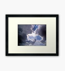 ©HCS Ahura Mazda And Clouds Framed Print
