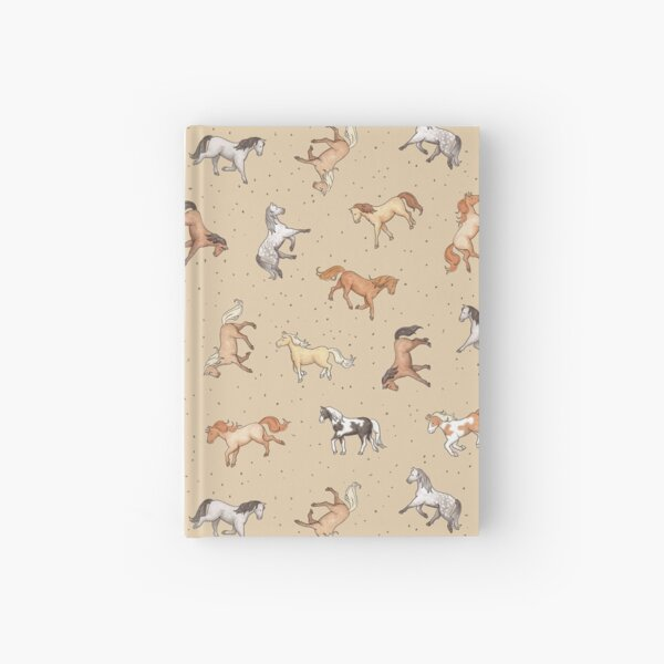 Scattered Horses spotty on taupe pattern Hardcover Journal