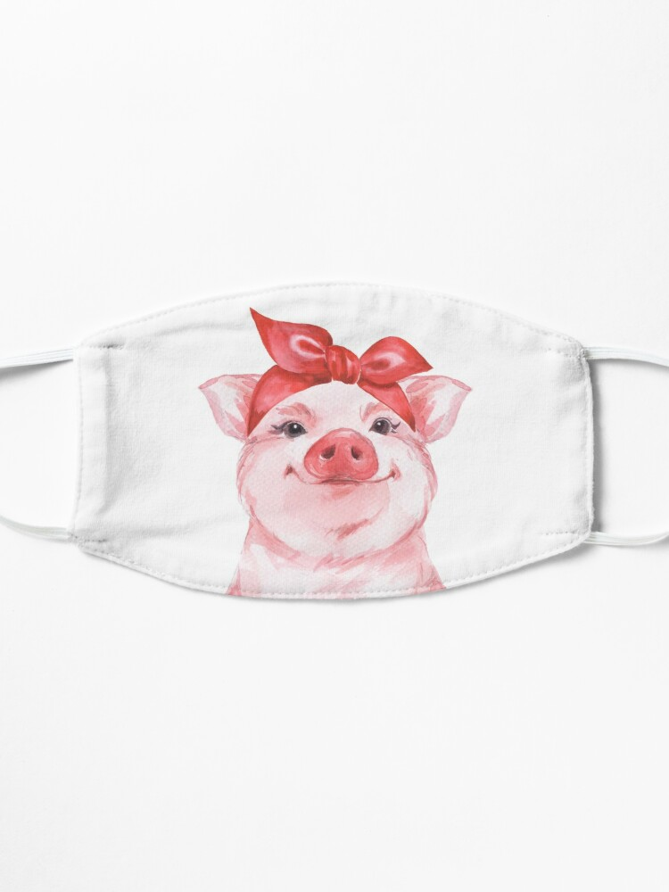 Alternate view of Piggy in red Mask