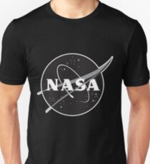 NASA Black (with white border) T-Shirt