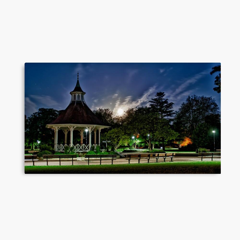 Supermoon Over Chapelfield Gardens Canvas Print
