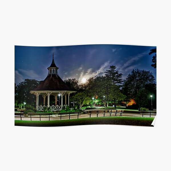 Supermoon Over Chapelfield Gardens Poster