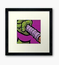Lichtenstein Pop Martial Art Quelonians | Purple Framed Print