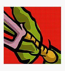 Lichtenstein Pop Martial Art Quelonians   Red Photographic Print